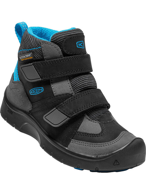 Keen Hikeport Mid Strap WP Shoes Children Black/Blue Jewel